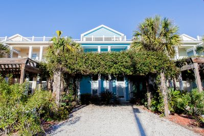 Front of the house - One house off the beach and faces the beach.
