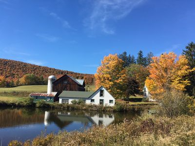 Photo for Historic Catskill Farmhouse in picturesque valley with ponds, forests and fields