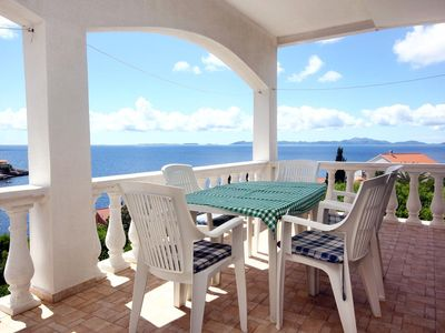 Photo for Three bedroom apartment with terrace and sea view Zavalatica (Korčula)