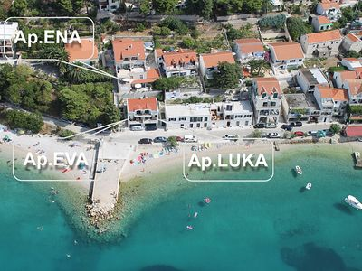Photo for APARTMENTS PLANA- APARTMENT EVA, 5 METERS OF THE SEA, FOR 6 PEOPLE, WIFI, GARAGE