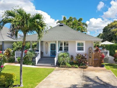 Photo for Turtle Cove Cottage: OCEAN VIEWS WITH AC &  STEPS TO OCEAN! CENTRAL POIPU!