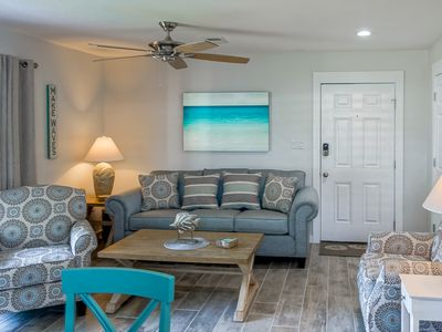 Photo for NEW NEW NEW! 1BR/1BA; Free WiFi; Tennis Courts; Pool; Quick Walk to Beach