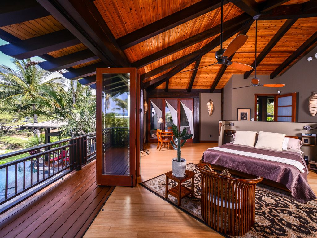 Tropical Island Beach House: Stunning Puako Tropical Beach House Fabulous Sandy Beach