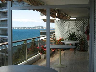 Balcony and view of the Sea and Cape d'Antibes