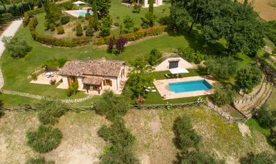 Photo for Exclusive cottage with private pool in the hills near Rome.