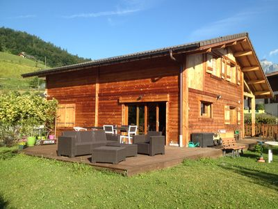 Photo for Chalet Mont Blanc view in the center of activities
