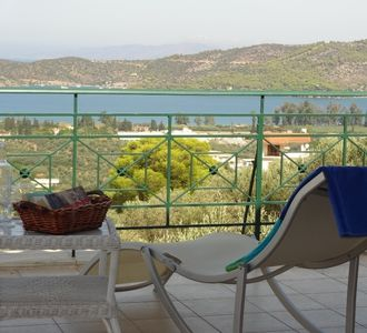 Photo for Detached Villa With Panoramic Views. 2 Mins Crossing To Poros Island