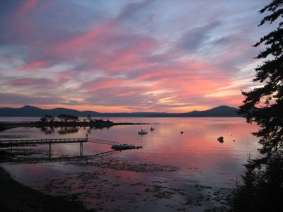 Photo for Island  waterfront property situated on Penobscot Bay facing gorgeous sunset vie