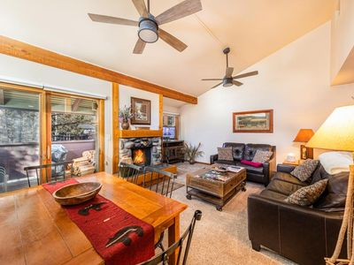 Photo for Aspens Pines 321: 2Br+Loft - The Aspens - Renovated with Cozy Rock Fireplace and Brand New Sauna!