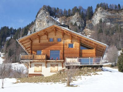 Photo for Large chalet labeled 4 * for 10 people with breathtaking Mont-Blanc view