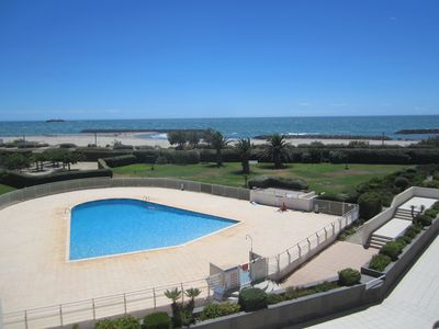 Photo for apartment Cap d'Agde facing sea + pool beach Rochelongue