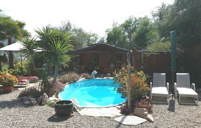 Photo for Beautiful Wooden Cabin with pool ideal for romantic retreat