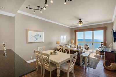 """Featuring """"Classy Coastal"""" decor and amazing views found only from the top!"""