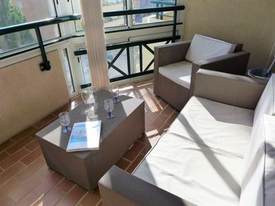 Photo for Apartment 483 m from the center of Fréjus with Internet, Air conditioning, Terrace, Washing machine (642378)