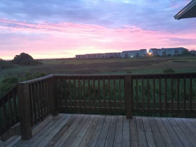 Photo for Marsh front home with ocean views, 5 minute stroll to the beach!