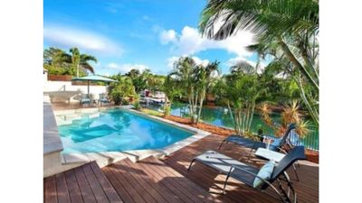 Photo for Waterfront home with large pool