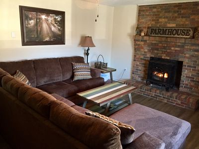 Photo for Private, pet friendly, hot tub, fire pit, sleeps 8, close to everything