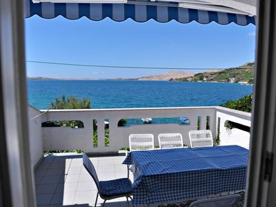 Photo for Two bedroom apartment near beach Metajna, Pag (A-10405-a)