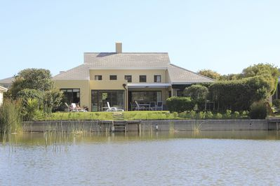 View of villa from the lake