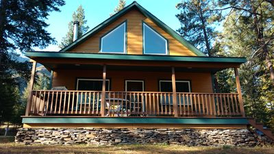 Photo for Relax and  unwind in a family cabin on the Clark Fork River