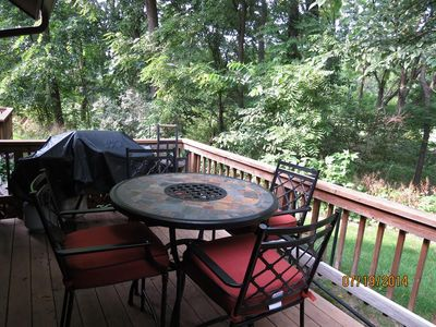 Photo for Skip the hotel room!  2 BR Golf Villa w/wooded view, Full Kitchen, BBQ Grill