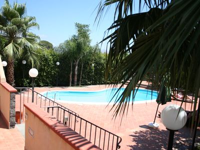 """Photo for Borgo Barone """"THE QUEEN"""" with swimming pool just steps from the sea and ETNA, Sicily"""