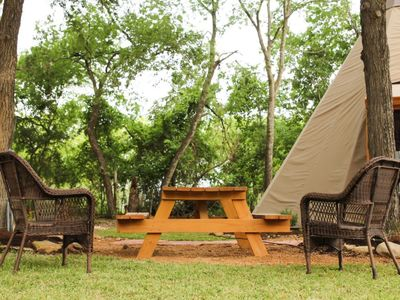 Photo for Come get away from it all in a Tipi - bring your friends!