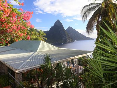 Photo for Spacious Tropical Villa with  Panoramic Views Of the Pitons and Caribbean Sea