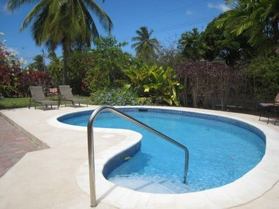 Photo for Villa with pool - 5 mins to the sea and beach, shopping and   restaurants.