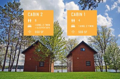 Cabins 1 & 2 with details