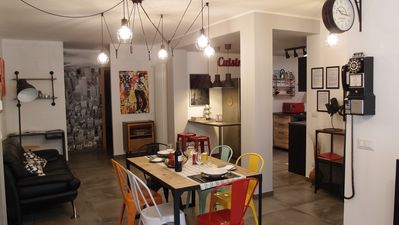 Photo for The black dog house: All NEW retro & industrial apartment close to Bari