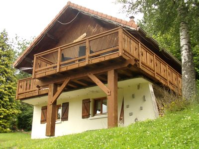 Photo for Superb quiet wooden chalet with sauna, WIFI, southern exposure