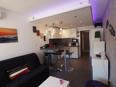 Photo for studio cabin 24m² renovated, comfortable, 4 people with private parking