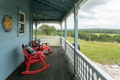 From the porch, you'll enjoy great views of the surrounding pastures