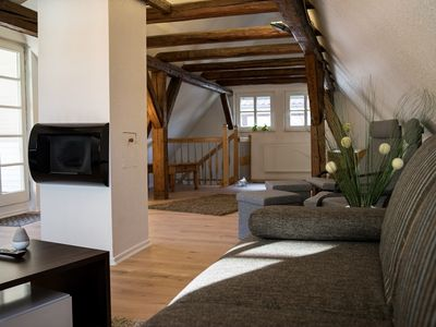Photo for Beautiful timbered apartment with garage and roof terrace