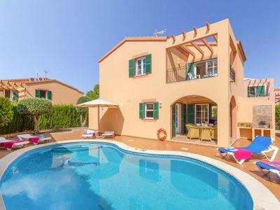 Photo for 3 bedroom Villa, sleeps 6 in Cala Galdana with Pool, Air Con and WiFi