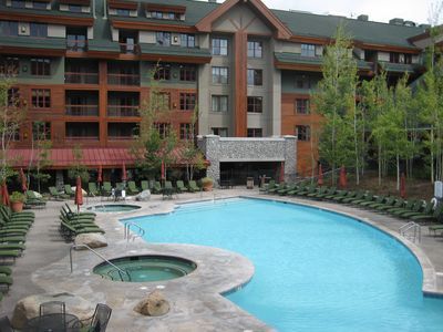 The heated Marriott Pool  and  hot tubs are open all year round.