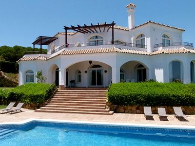 Photo for Luxury villa with golf & sea views