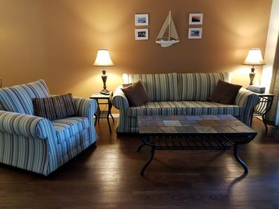 Liviing room with sofa bed