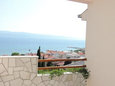 Photo for Two bedroom apartment with terrace and sea view Duće, Omiš (A-2812-e)