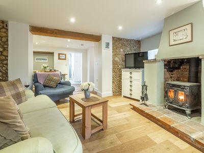 Photo for A pretty, well refurbished, traditional cottage in a peaceful position, close to all the amenities o