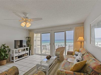 Photo for Crystal Sands 211A - Gulf Front! Community Pool! Free Beach Service! Book Today!