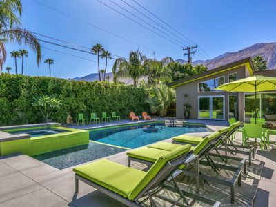 Photo for Come enjoy complete privacy and relaxation with a splash of Mid-century Palm Springs!