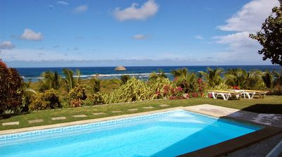 Photo for Luxury secured villa with pool, view of the coconut trees, the lagoon & the sea