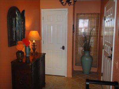 the entry bids you welcome, come in and relax in the warm,colorful, hacienda.