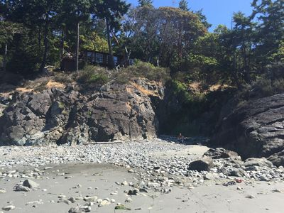 Photo for Oceanfront home steps from private beach & only a quick drive to Anacortes!