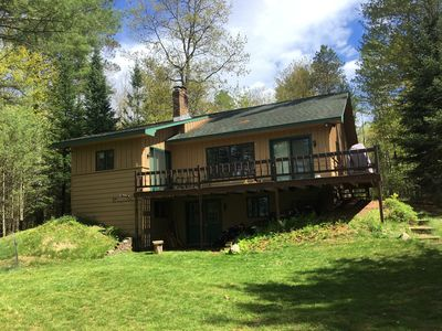 Photo for 3 bed 3 Bath Lake home Sleeps 10.  2.8 acres. private. 7 miles from Eagle River