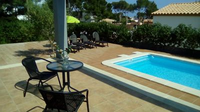 Photo for LAST MINUTE MAY Villa in Cala Pi. Private pool. Beach and descent to the sea. Parkin