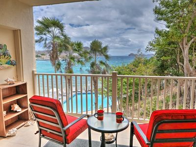 Photo for NEW! Ocean View St. Thomas Condo - Walk to Beach!