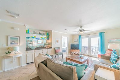 The Breezeway ~ Blue Mountain Beach ~ Living Room ~ Paradise Properties